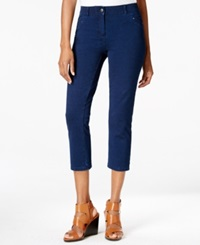 Style And Co. Denim Capri Pants Galaxy Wash Only At Macy's