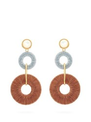 Lizzie Fortunato Corsica Cord Drop Earrings Brown