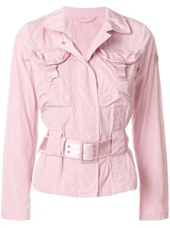 Peuterey Belted Utilitary Jacket Pink And Purple
