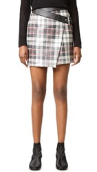 Mcq By Alexander Mcqueen Mini Wrap Skirt Black Red
