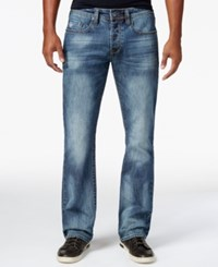Buffalo David Bitton Men's King X Slim Fit Bootcut Stretch Jeans Authentique Sandblasted