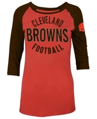 5Th And Ocean Women's Cleveland Browns Rayon Raglan T Shirt Orange