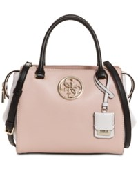 Guess Ryann Lux Small Satchel Nude Multi Gold