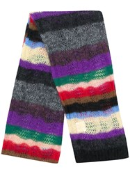 N 21 No21 Oversize Knitted Scarf Black