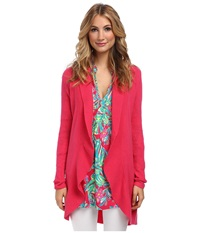 Lilly Pulitzer Lindsay Cashmere Cardigan Pomegranate Women's Sweater Pink
