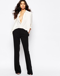 Mango Tailored Flare Trouser Black