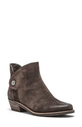 Andrew Marc New York Women's Jane Low Heel Bootie Dark Brown Suede
