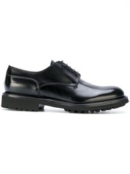 Doucal's Classic Derby Shoes Leather Rubber Black