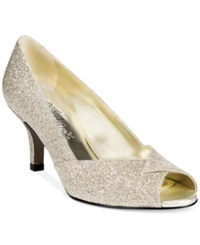 Easy Street Shoes Easy Street Ravish Evening Pumps Women's Shoes Gold Glitter
