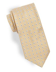 Brooks Brothers Dotted Silk Tie Yellow