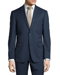 Neiman Marcus Modern Fit Two Button Two Piece Suit Navy