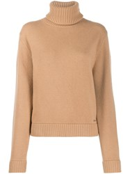 Dsquared2 Ribbed Roll Neck Jumper Neutrals