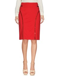 Trussardi Jeans Knee Length Skirts Red