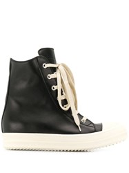 Rick Owens Larry Leather Sneakers Black