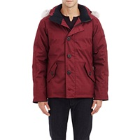 Canada Goose Tech Parka With Fur Trimmed Hood Wine
