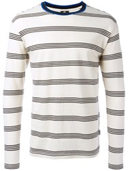 Paul Smith Ps By Striped Longlseeved T Shirt White
