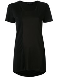 Andrea Ya'aqov Longline T Shirt Women Cotton Viscose L Black