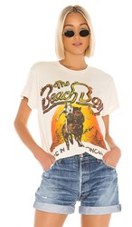 Madeworn The Beach Boys Live In Concert Tee In Ivory. Dirty White