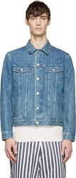 A.P.C. Blue Denim Varsity Jacket