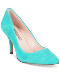 Inc International Concepts Women's Zitah Pumps Only At Macy's Women's Shoes Bright Aqua Suede