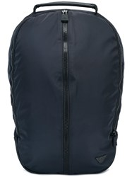 Emporio Armani Zipped Backpack Blue