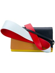 Delpozo 3D Colour Block Clutch Blue