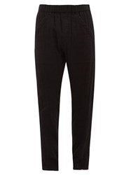 Ann Demeulemeester Arcille Straight Leg Cotton Trousers Black