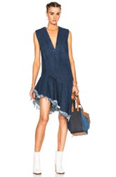 Marques ' Almeida Denim Sleeveless Dress In Blue
