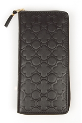 Comme Des Garcons Embossed Long Zip Around Wallet Black Sa011e