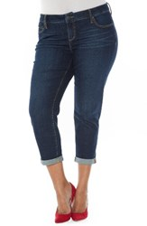 Slink Jeans Plus Size Women's Roll Crop Boyfriend