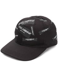 Dolce And Gabbana Logo Patch Cap Black