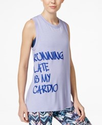 Jessica Simpson The Warm Up Juniors' Open Back Graphic Tank Top Only At Macy's Candied Violet