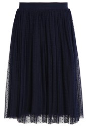 Mintandberry Pleated Skirt Navy Blazer Dark Blue