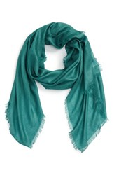 Nordstrom Women's Cashmere And Silk Wrap Teal Finland