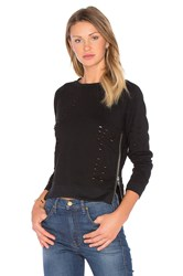 Central Park West Great Jones Distressed Sweater Black