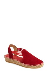 Women's Toni Pons 'Nuria' Suede Sandal Red Suede