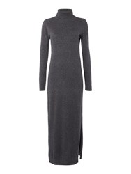 Therapy Knit Roll Neck Maxi Dress Charcoal