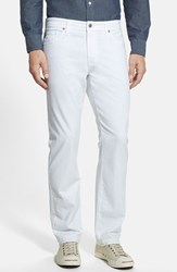 Ag Jeans Men's Big And Tall Ag 'Graduate Sud' Slim Straight Leg Pants White