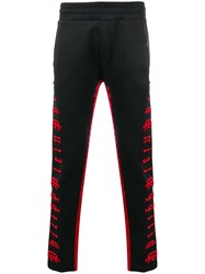 Philipp Plein Embroidered Logo Track Trousers Black