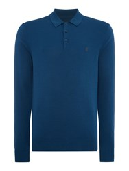 Peter Werth Hemmingford Cut Knitted Polo Shirt Steel