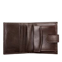 Maxwell Scott Bags Brown Small Leather Wallet For Men