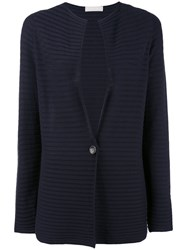 Le Tricot Perugia Ribbed Cardigan Women Cotton S Blue