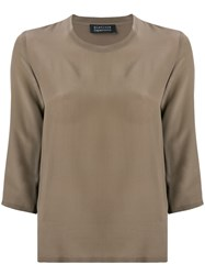 Gianluca Capannolo Classic Slim Fit Blouse Brown