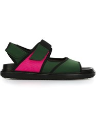 Marni Neoprene Flat Sandals Green