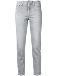 Cambio Skinny Fit Tapered Jeans Grey