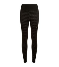 Lucas Hugh Technical Knit Stardust Leggings Female Black