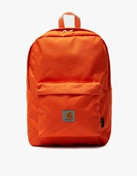 Carhartt Watch Backpack In Orange Carhartt Orange