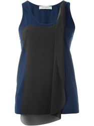 Cedric Charlier Layered Tank Top Blue