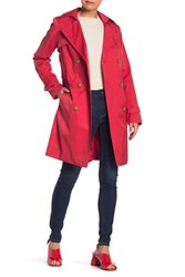 Cole Haan Belted Trench Coat Amaranth
