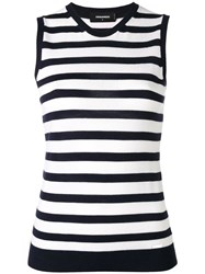 Dsquared2 Striped Sleeveless Knit Top Blue
